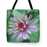 White And Purple Spiky Petals Tote Bag