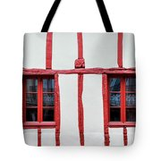 White And Red Half-timbered House Detail Tote Bag