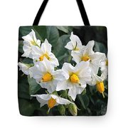 Garden Blossoms White And Yellow Garden Blossoms Tote Bag