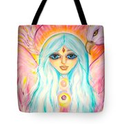 White Angel Tote Bag
