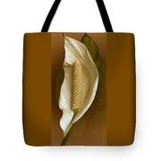 White Anthurium Flower Tote Bag