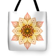 Asiatic Lily II Flower Mandala White Tote Bag
