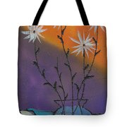 White Asters Tote Bag