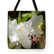 White Azalea With Friend Tote Bag