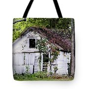 White Barn In Autumn Tote Bag