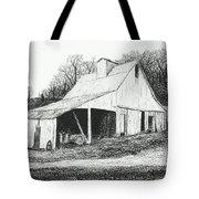 White Barn On Bluff Road Tote Bag