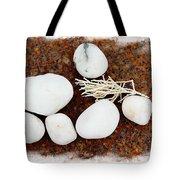 White Beach Rock Vignette Tote Bag