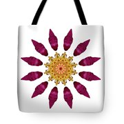 Beach Rose Iv Flower Mandala White Tote Bag