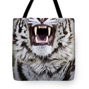 White Bengal Tiger At Forestry Farm Tote Bag