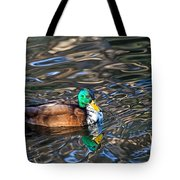 White-bibbed Mallard Tote Bag