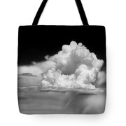 White Billowing Cloud Formation In Montana Tote Bag
