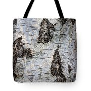 White Birch Abstract  Tote Bag