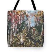 White Birch Trail Ride Tote Bag