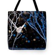 White Bird In Winter Tote Bag