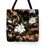 White Bloodroot Tote Bag