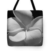 White Bloom B W Tote Bag