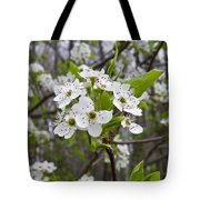 White Blooms Tote Bag