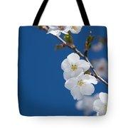 White Blossom Tote Bag
