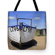 White Boat Tote Bag