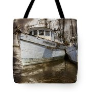 White Boats Tote Bag