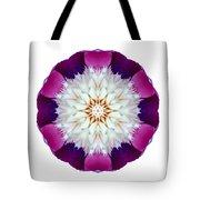 Bowl Of Beauty Peony II Flower Mandala White Tote Bag