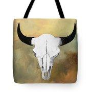 White Buffalo Skull Tote Bag