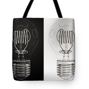 White Bulb Black Bulb Tote Bag