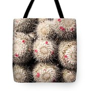 White Cactus Pink Flowers No1 Tote Bag