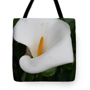 White Calla Lilly Tote Bag