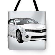 White Camaro Tote Bag
