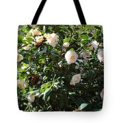 White Camellias Tote Bag by Carol Groenen