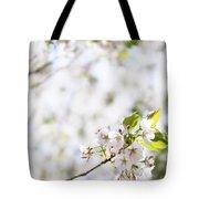 White Cherry Blossom Flowers  Tote Bag