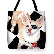 White Chihuahua - Pistachio Tote Bag