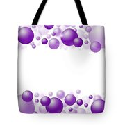 White Christmas Background With Purple Balls. Tote Bag