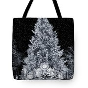 White Christmas In Texas Tote Bag