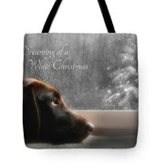 White Christmas Tote Bag by Lori Deiter