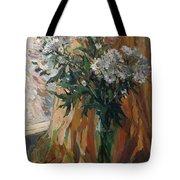 White Chrysanthemums Tote Bag