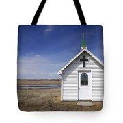 White Church Chapel  On Prairie Tote Bag