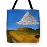 White Cloud Tote Bag