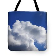 White Clouds Art Prints Blue Sky Tote Bag