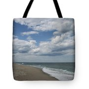 White Clouds Over The Ocean Tote Bag