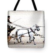 White Coach Horses Tote Bag
