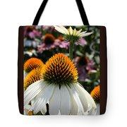 White Cone Flower Tote Bag