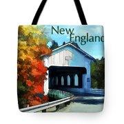 White Covered Bridge  Colorful Autumn New England Tote Bag