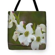 White Cross Flowers Tote Bag