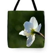 White Daffodil Rear Profile Tote Bag