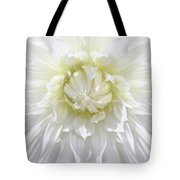 White Dahlia Floral Delight Tote Bag
