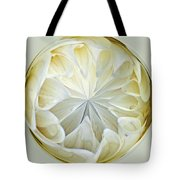 White Dahlia Orb Tote Bag
