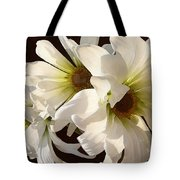 White Daisies In Sunshine Tote Bag