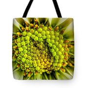 White Daisy Center Tote Bag